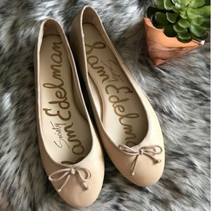 Sam Edelman Carrie Nude Leather Ballet Flats 9